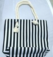 Hot wholesale fashional reusable cotton beach bag