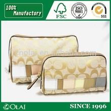 girl golden yellow comfortable feel bag cosmetic