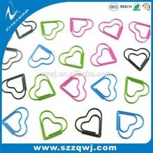 Professional factory custom logo metal heart, arrow,eyes,ship shaped paper clip