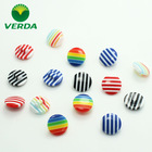 Candy stripe, mushroom resin button with shank