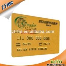 hot sale printable Silver/golden foil pvc embossed card