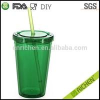 hot sales FDA/LFGB/EU promotional cheap price plastic tumblers lids and straws