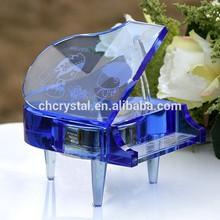 souvenirs music boxes crystal piano wholesale MH-LP093