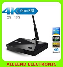 Tronsmart Orion R28 Pro 1.8GHz 2G/8G HDMI H.265 WiFi OTG Media Player IPTV Quad Core Smart TV Box, XBMC Android TV Box RK3288