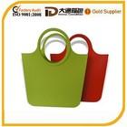 flexible tote silicone shopping bag