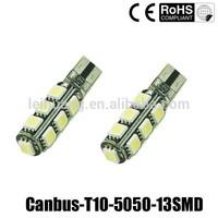 LED T10 CANBUS 13SMD 5050 LED Auto T10 5050 w5w 12v