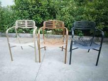 New Design Full aluminum Vintage Cafe chair