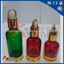 Rubber dropper Ruby essential oil glass bottle