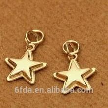 2015 normal star shape gold color zipper slider