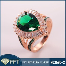 Elegant green gemstone 925 sterling silver ring