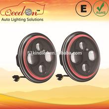 Qeedon 7inch LED Round ECE E-mark DOT vacuum head light headlight with turning light for Mahindra thar