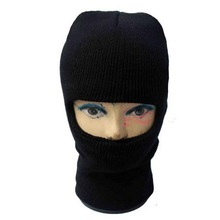 Fashion Wholesale Stock Winter Knitted Black Ski Mask Hat Knitting Pattern