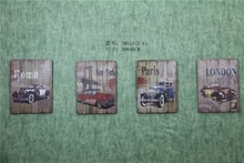 Handmade Painting On Wood with Antique Effect SM014