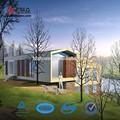 Conception professionnelle moderne, armature en acier préfabriqués villa de conception architecturale