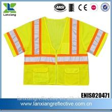 high visibility short sleeve Safety vest Reflective vest hi vis vests comply with EN471 LX632