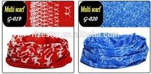 Customized logo printing seamless tube scarf
