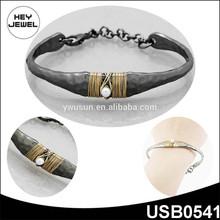 hammered wire wrap bow shape new design fashion alloy bracelet jewelry
