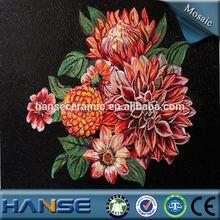 PZ243 foshan background deco flower glass tile mosaic mural patterns