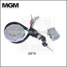 OEM High Quality Motorcycle lock sets , motorcycle fuel tank plastic caps lock