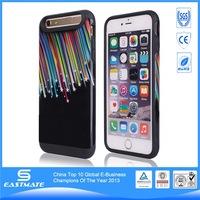 Colorful S shape kickstand earphone waterproof bag for iphone 6+