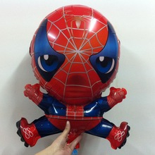wholesale 42-65cm spider man balloons to inflate helium shaped foil balloon