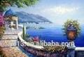 نوعية جيدة الحديثة البحر الأبيض المتوسط وحة زيتية ديكور المنزل الفن