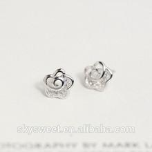 Mode argent boucles d'oreilles bijoux arabie saoudite ( SWTAA309 )