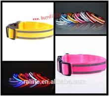 New LED flash light emitting Pet dogs and cats reflective dog collar luminous collar neckband sizes