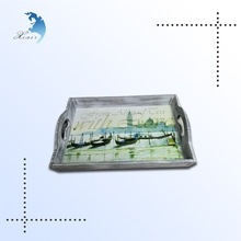 New style world-wide promotion eco-friendly printed craft wooden serving tray