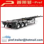 Direct factory 40ft skeletal truck trailer for sale