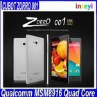 Original Cubot ZORRO 001 5.0 inch 1280*720 Smart phone 1GB+8GB Quad Core Dual SIM Dual Standby 8.0MP Camera Android 4.4 Cubot