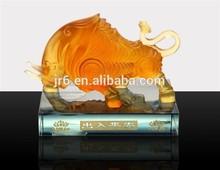 Crystal Coloured glaze animal , OX ,desk decoration