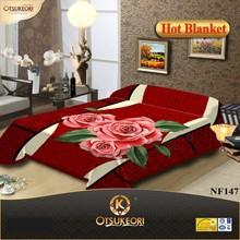 OTSU KEORI 100% Polyester raschel wholesale blanket queen size