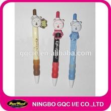 cartoon animal shape clip Plastic pen,promotional pen,customized accept
