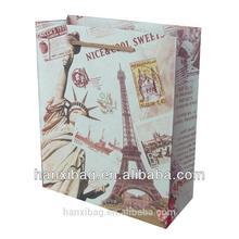 kraft polka dot paper bag personalized promotional gift bags