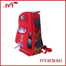 Children car shape oxford kid school bag with heat transfer printing
