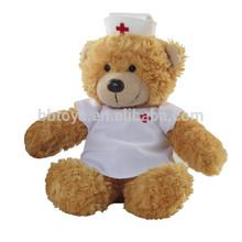 2015 nurse teddy bear direct custom plush toy animal