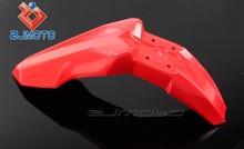 ZJ-109-RD Red Motorcycle spare part Supermoto Evo Plastic Pit Bike Front Fender Fit for Honda KTM Suzuki Kawasaki