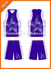 Novel trait cool character custom transfer printing basketball uniform