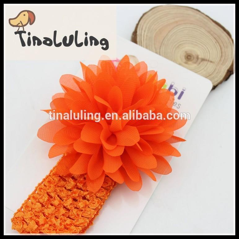 hairbands şakayık çiçek tığ headbands büyük çiçeklerle