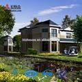 européenne moderne lumière villa préfabriquée en acier structure de conception architecturale
