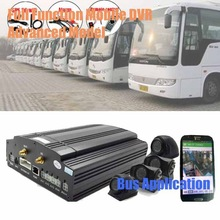 Full functions 4ch H.264 3g live video mobile dvr alarm advertise for bus truck crane