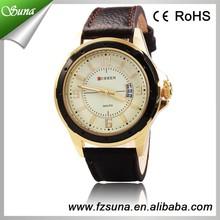 China Ebay Rose Gold Circle Mens Quartz Wrist Watch Accept Paypal
