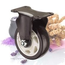 Black PU Plastic Core 75mm Small Furniture Caster Wheel