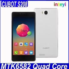 Original Cubot S208 Quad Band Mobile Phone MTK6582 Quad Core 1.3Ghz 1GB 16GB Android 4.2 3G OTG Cubot S208