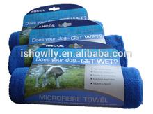 Wholesale pet grooming hooted dryer towel magic water absorbing quick dry towel dog towel
