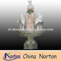 Steingarten brunnen dekorative Frau und kleine engel statuen ntmf- sa106