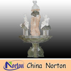 stone garden fountain decorative woman and little angel statues NTMF-SA106