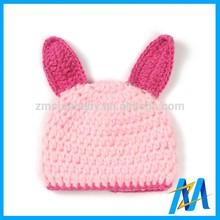 Cute Animal Baby Woolen Crochet Winter Hat Child Fur Pompons Custom Beanie Hat