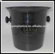PS double handle plastic ice bucket